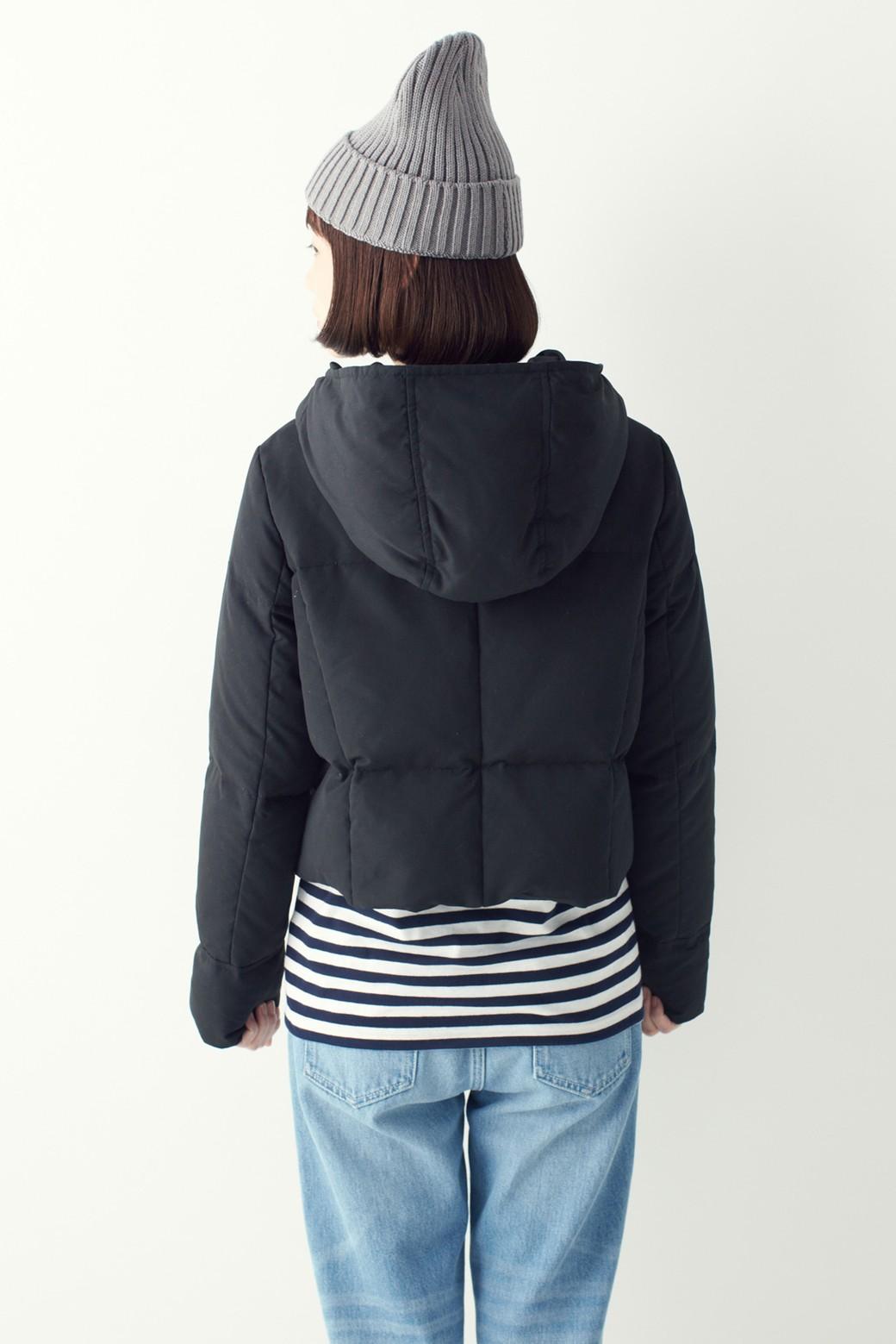 SHE THROUGH SEA #セパレートロングダウンコート <ブラック×ブラック>の商品写真17