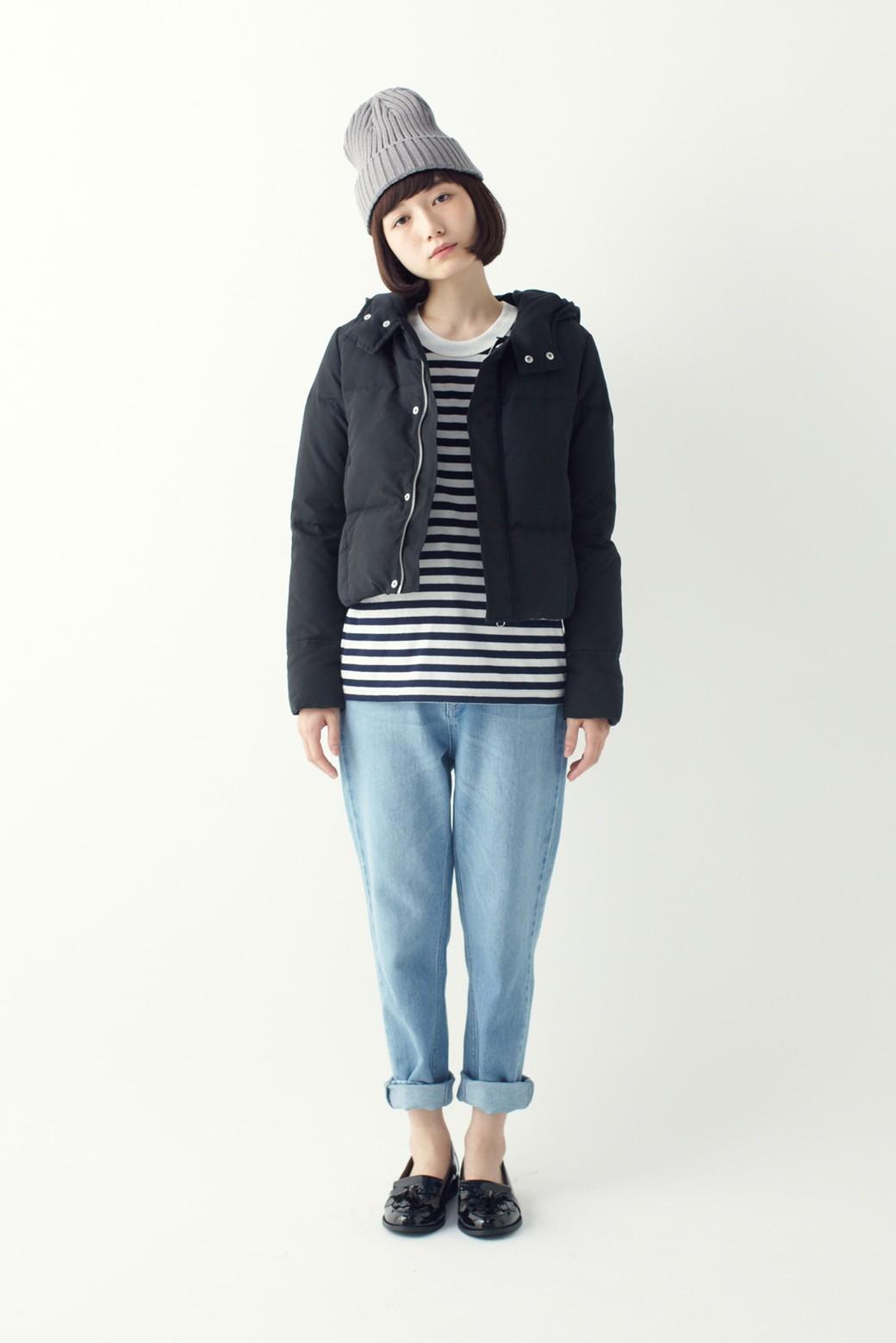 SHE THROUGH SEA #セパレートロングダウンコート <ブラック×ブラック>の商品写真12