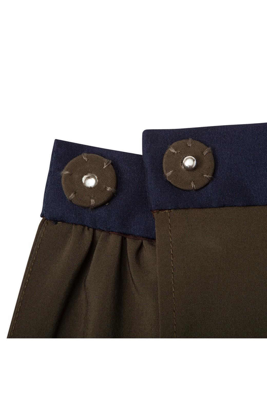 ロジーズ 配色プリーツロングスカート <カーキ>の商品写真4