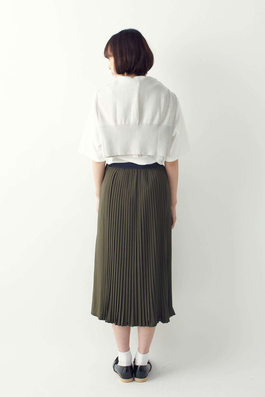 ロジーズ 配色プリーツロングスカート <カーキ>の商品写真11