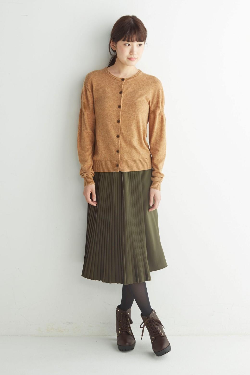 ロジーズ 配色プリーツロングスカート <カーキ>の商品写真6
