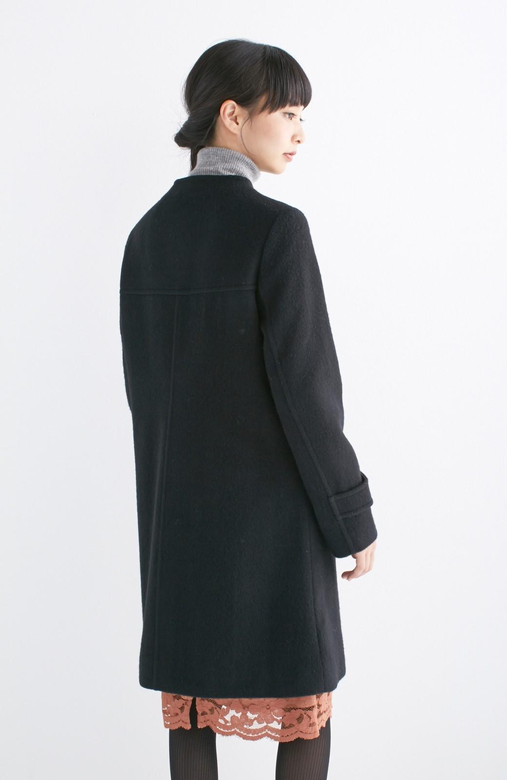 エムトロワ MADE IN JAPAN生地を使用したノーカラーコート <ブラック>の商品写真15