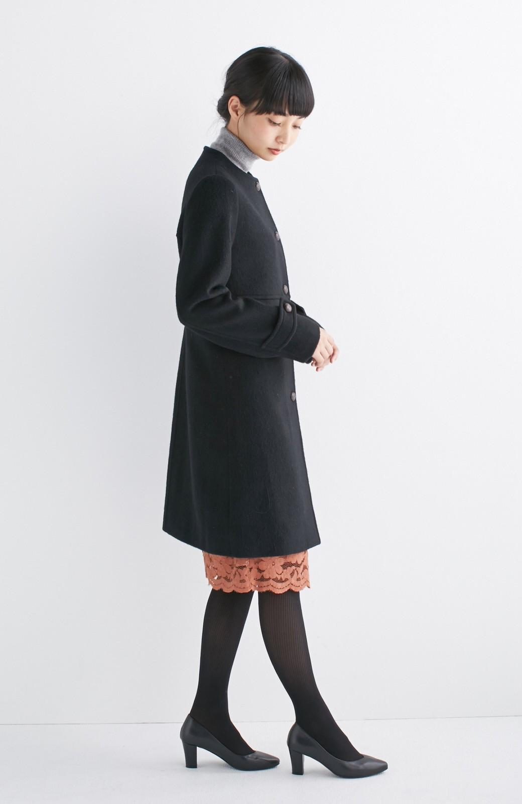 エムトロワ MADE IN JAPAN生地を使用したノーカラーコート <ブラック>の商品写真9