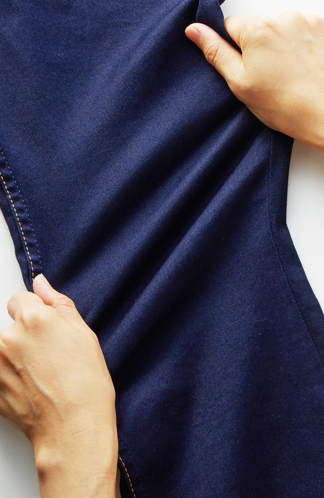 nusy のびのびサテン素材のスキニーデニムパンツ <インディゴブルー>の商品写真2