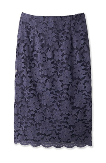 エムトロワ フェミニンレースタイトスカート  <グレー>の商品写真