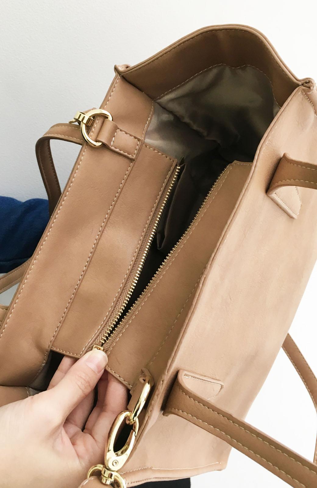 エムトロワ 編み込みデザインがかわいいフェミニントートバッグ <ベージュ>の商品写真2