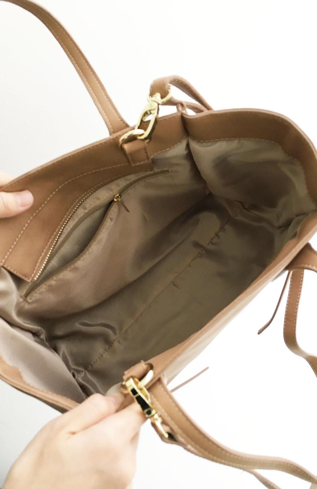 エムトロワ 編み込みデザインがかわいいフェミニントートバッグ <ベージュ>の商品写真3