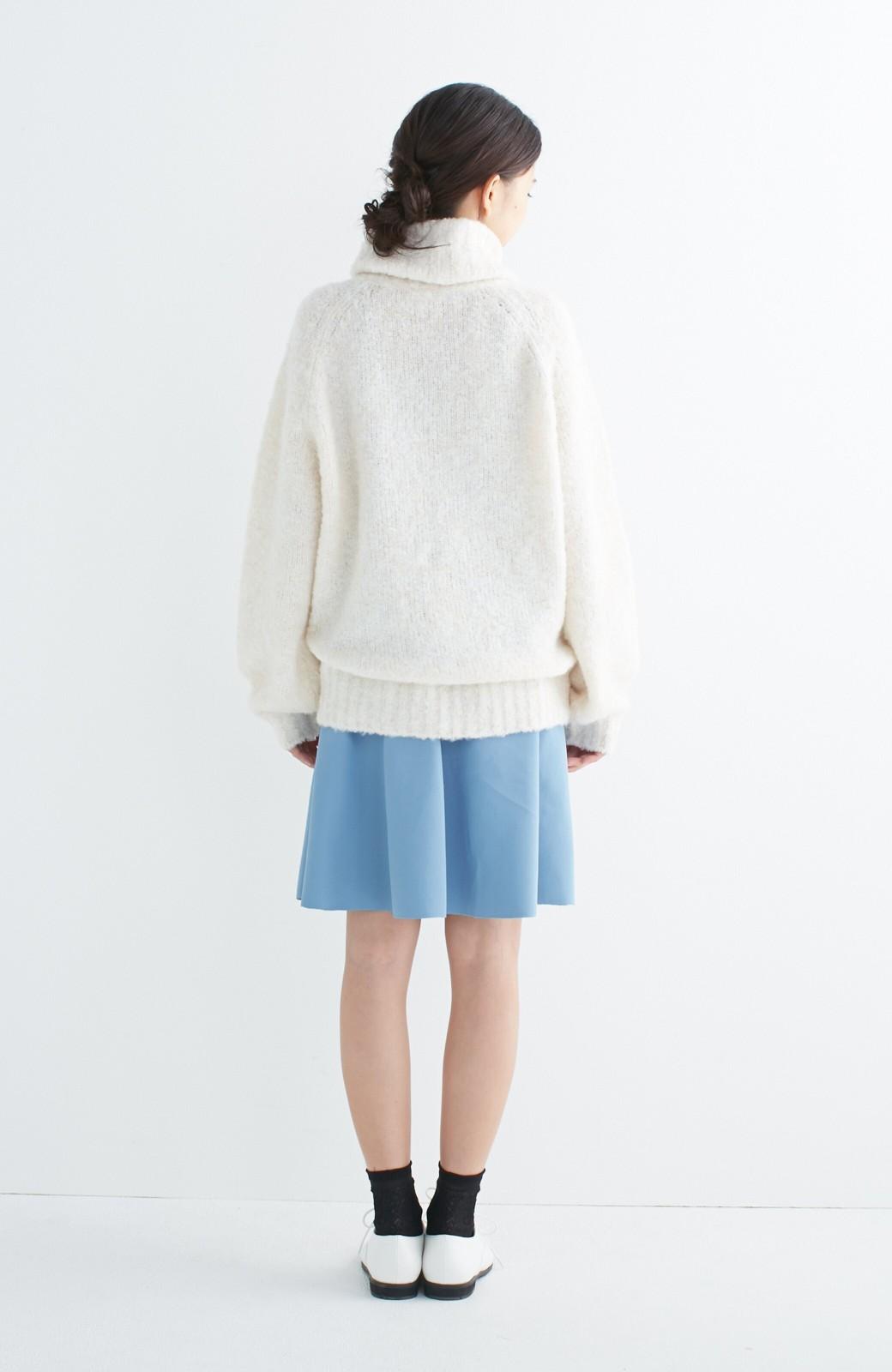 エムトロワ 【mer1月号掲載】きれい色もあったかも楽しめるリバーシブルフレアースカート <杢グレー>の商品写真20