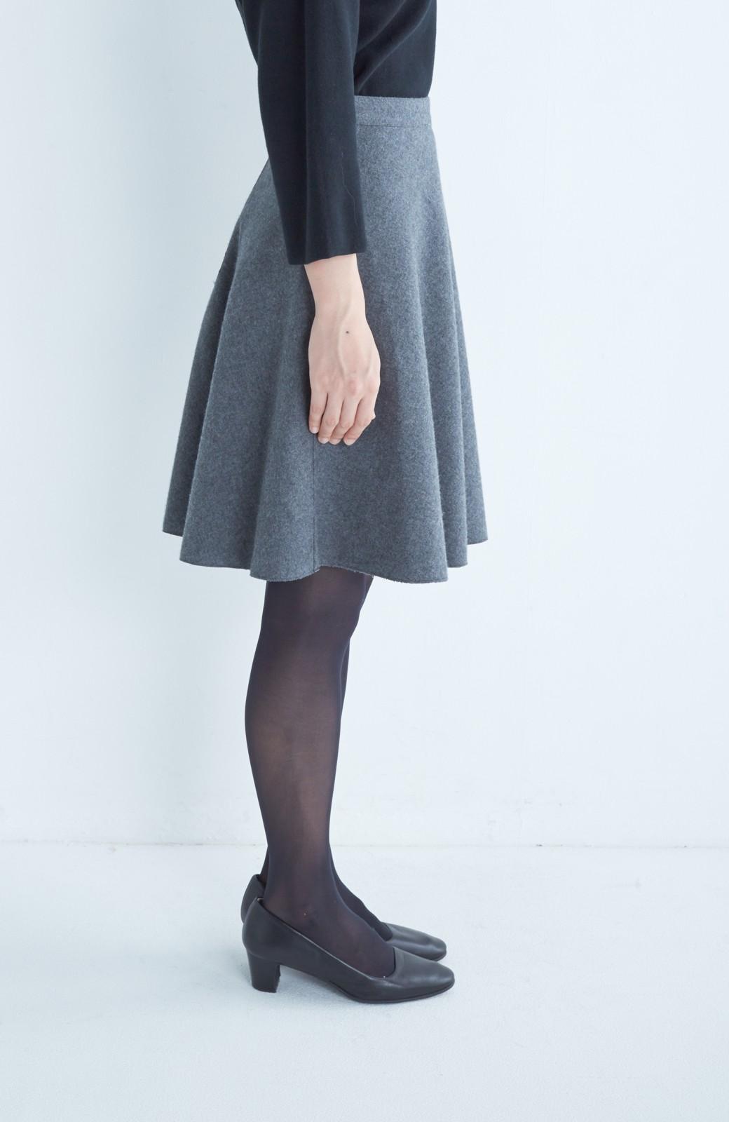 エムトロワ 【mer1月号掲載】きれい色もあったかも楽しめるリバーシブルフレアースカート <杢グレー>の商品写真11