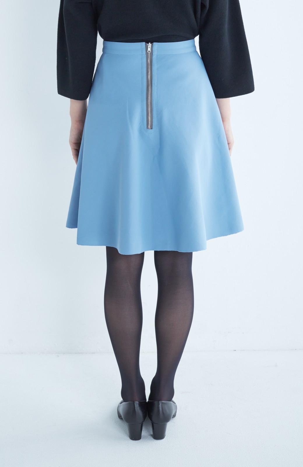 エムトロワ 【mer1月号掲載】きれい色もあったかも楽しめるリバーシブルフレアースカート <杢グレー>の商品写真13