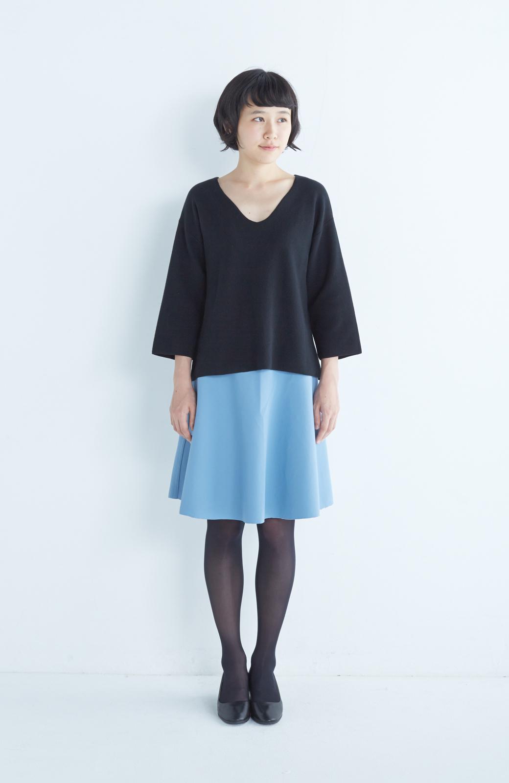 エムトロワ 【mer1月号掲載】きれい色もあったかも楽しめるリバーシブルフレアースカート <杢グレー>の商品写真10