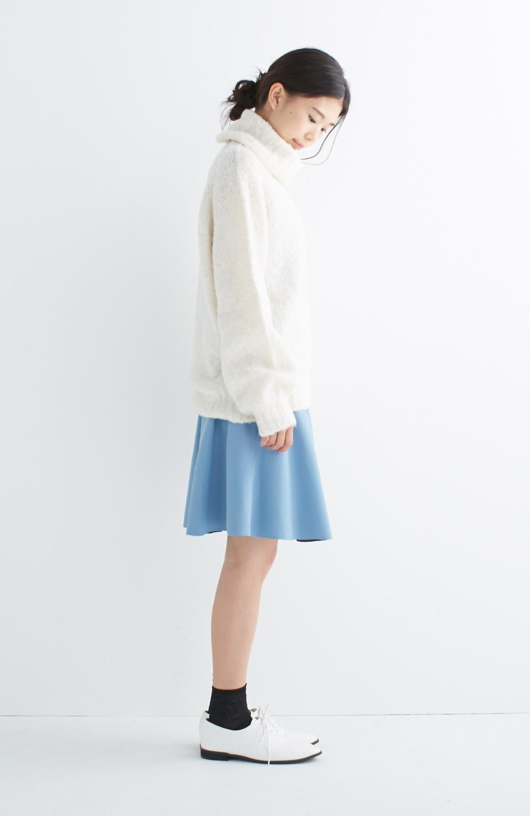エムトロワ 【mer1月号掲載】きれい色もあったかも楽しめるリバーシブルフレアースカート <杢グレー>の商品写真18