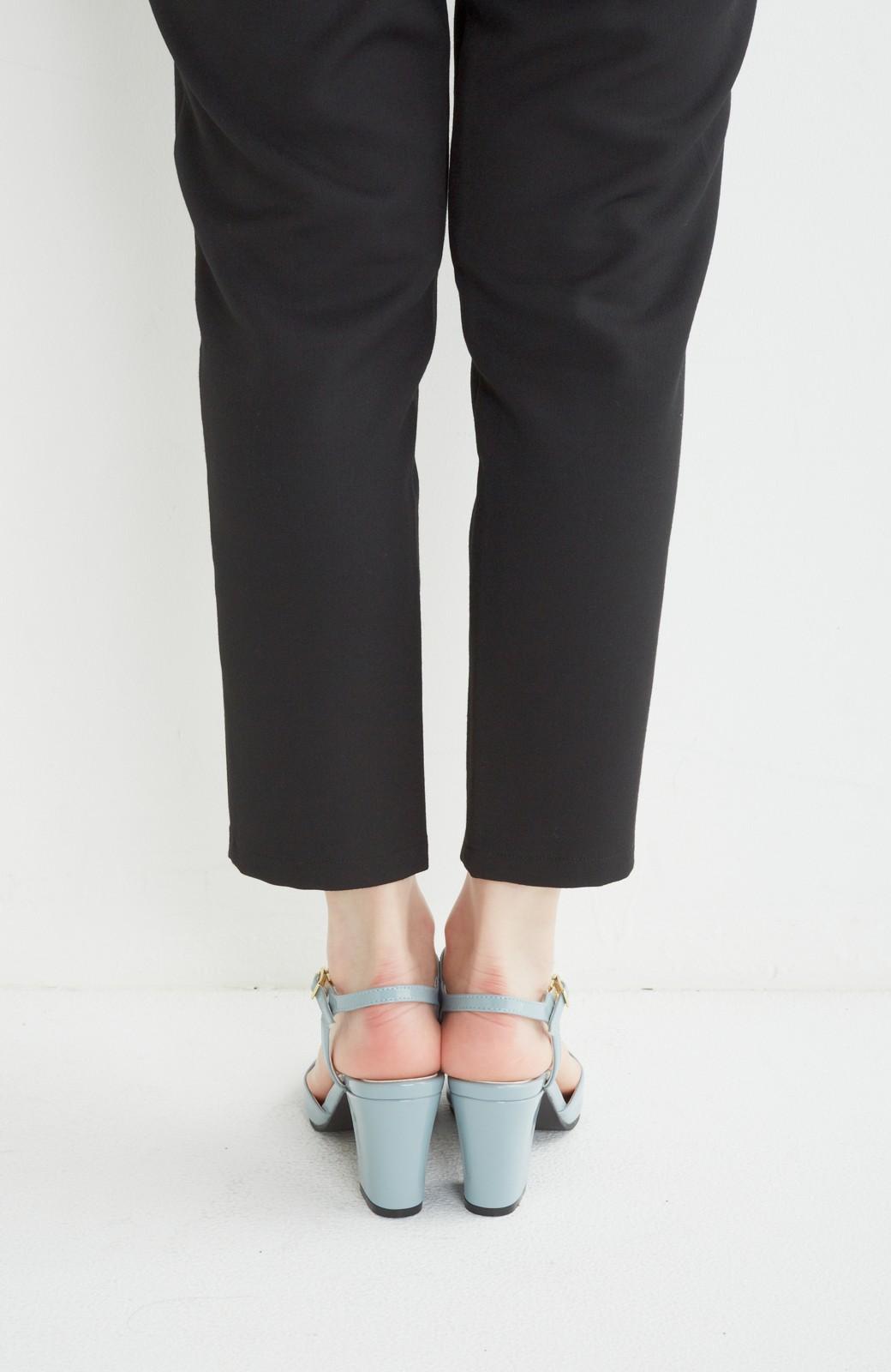 SHE THROUGH SEA おでかけの日に大切に履きたい、Tストラップパンプス <グレイッシュブルー>の商品写真4
