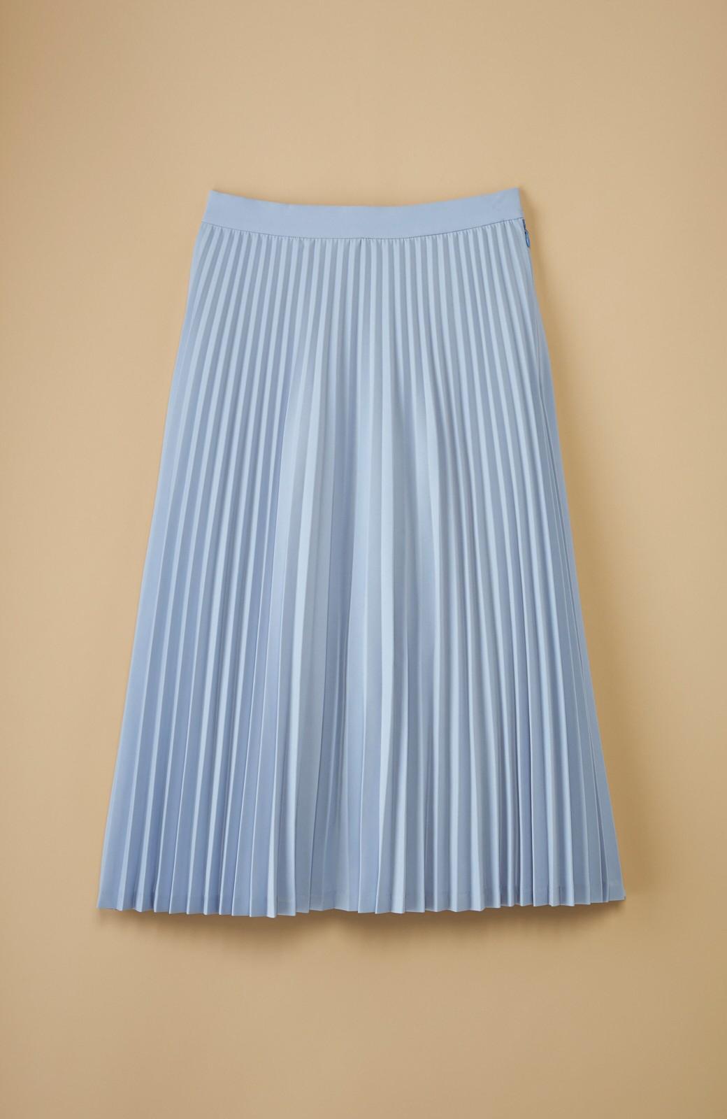 haco! 【mer11月号掲載】折り目正しい大人のためのプリーツスカート by que made me <サックスブルー>の商品写真1