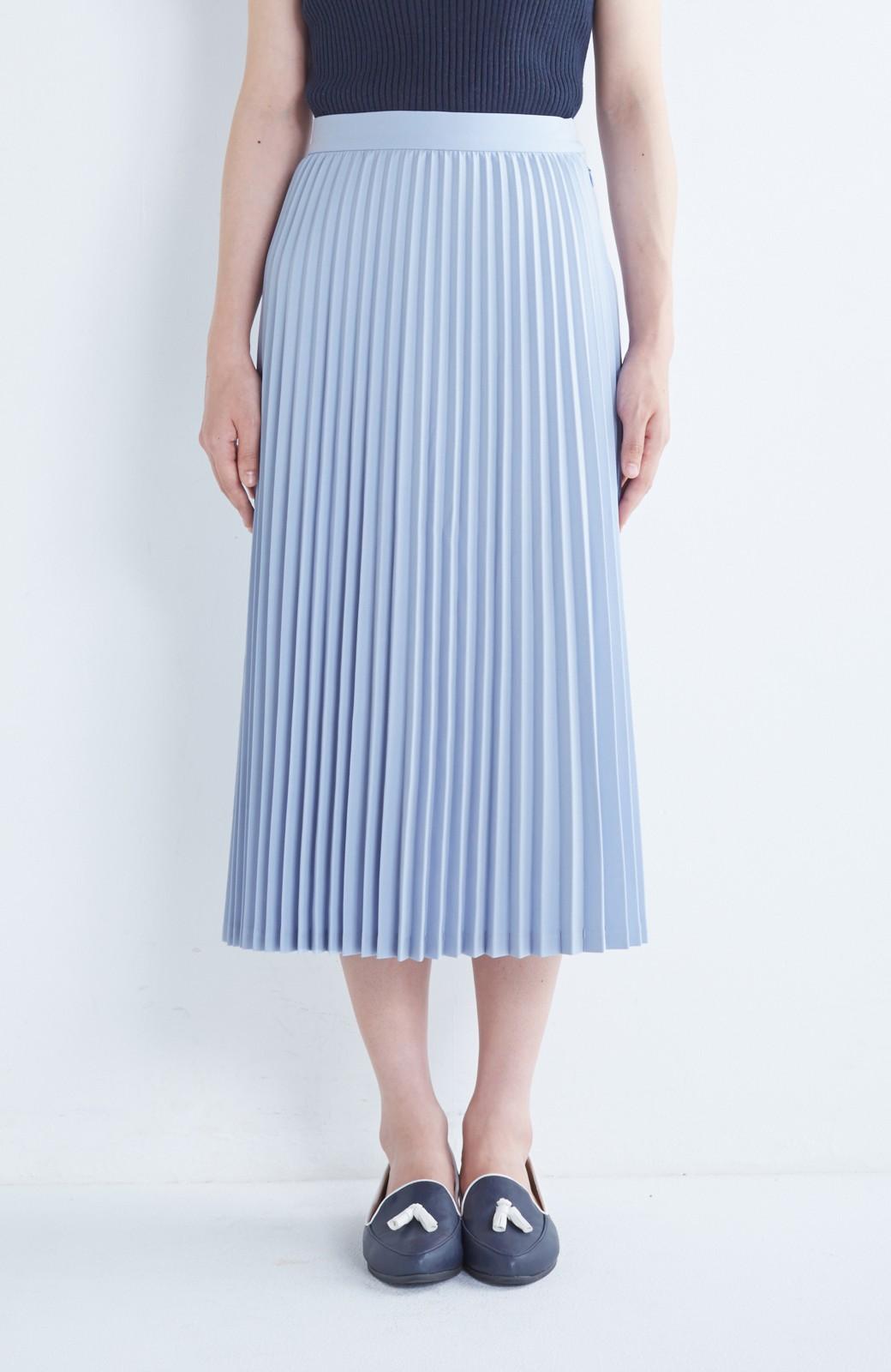 haco! 【mer11月号掲載】折り目正しい大人のためのプリーツスカート by que made me <サックスブルー>の商品写真2