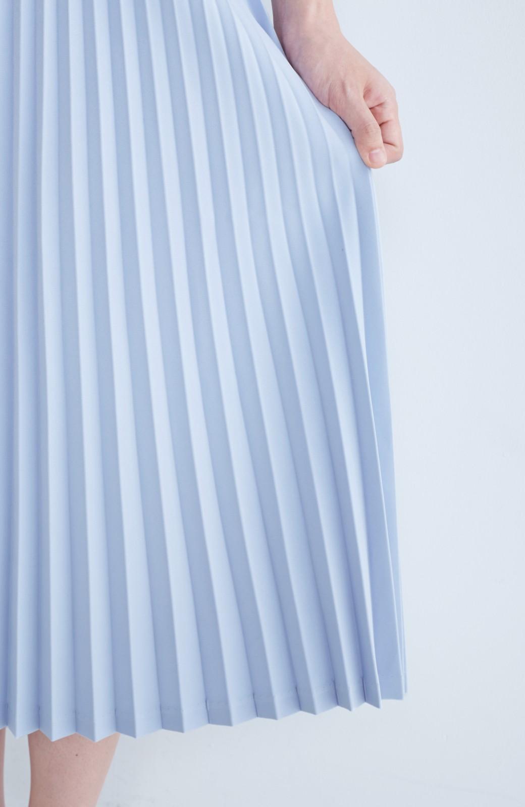 haco! 【mer11月号掲載】折り目正しい大人のためのプリーツスカート by que made me <サックスブルー>の商品写真9