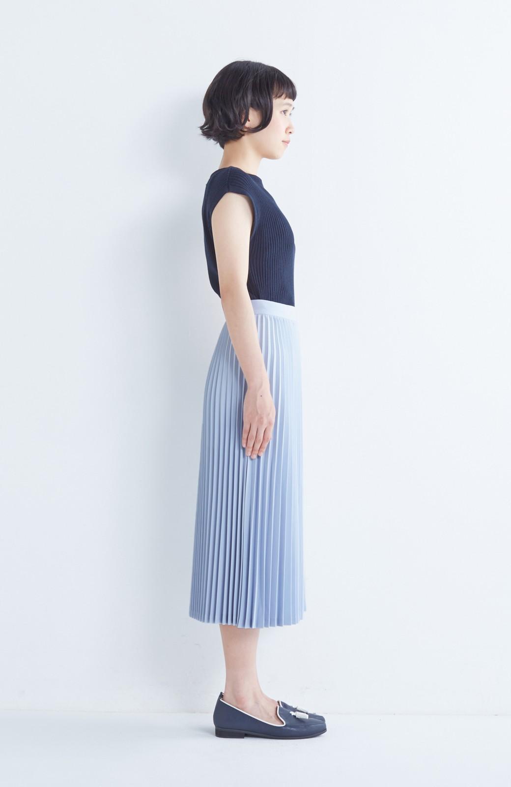 haco! 【mer11月号掲載】折り目正しい大人のためのプリーツスカート by que made me <サックスブルー>の商品写真4