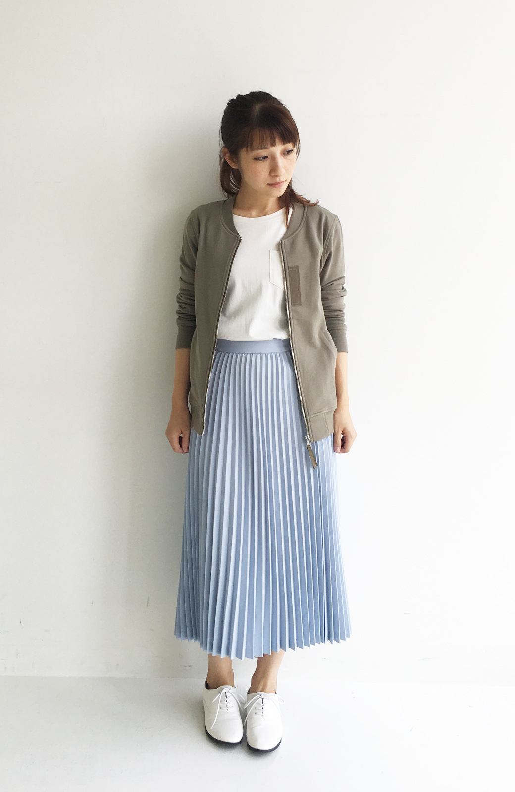 haco! 【mer11月号掲載】折り目正しい大人のためのプリーツスカート by que made me <サックスブルー>の商品写真6