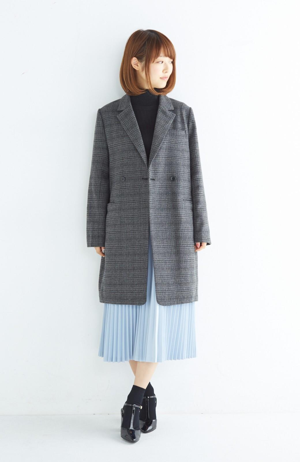haco! 【mer11月号掲載】折り目正しい大人のためのプリーツスカート by que made me <サックスブルー>の商品写真7