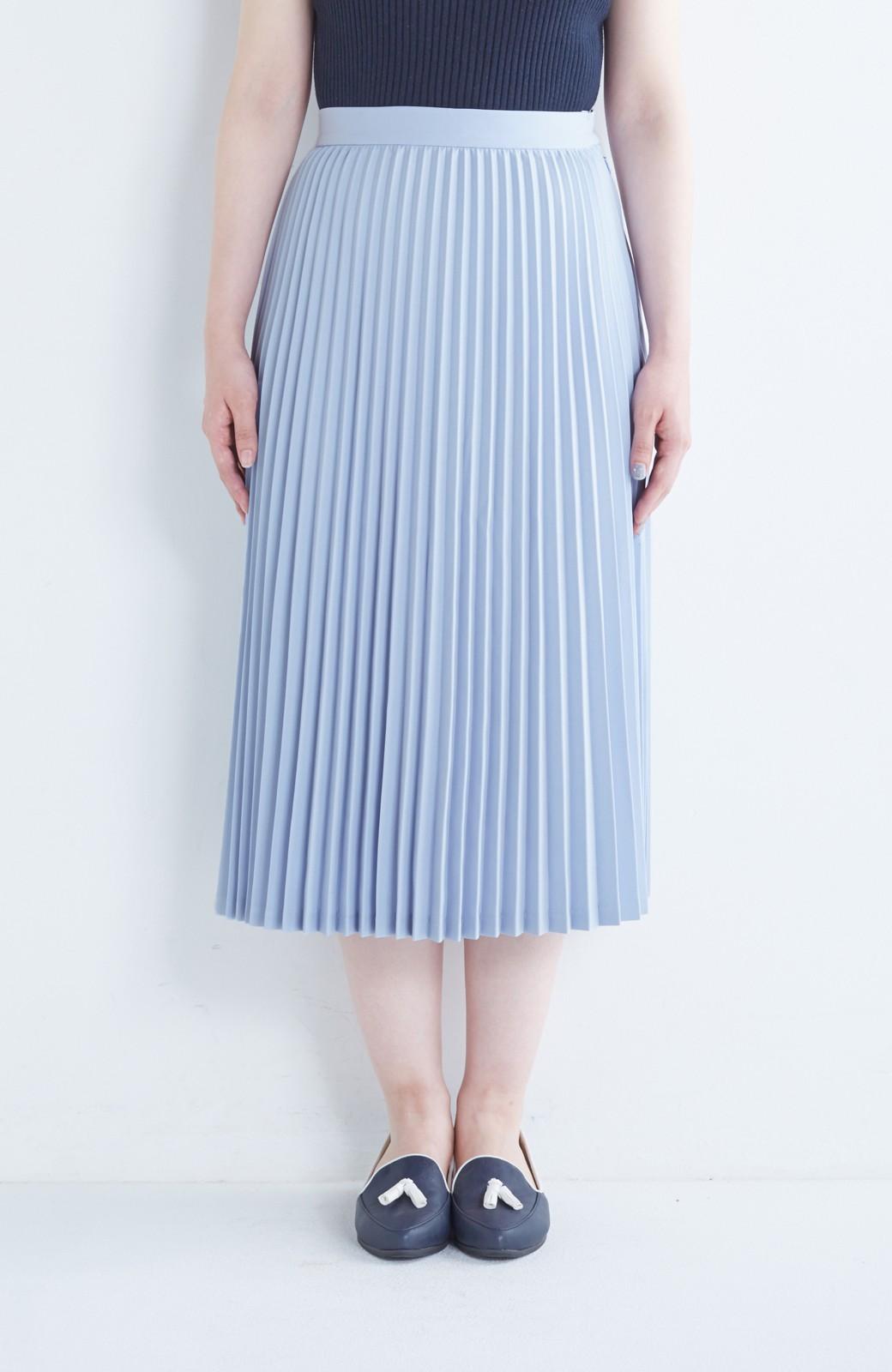 haco! 【mer11月号掲載】折り目正しい大人のためのプリーツスカート by que made me <サックスブルー>の商品写真8