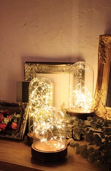 haco! LEDガラスドームライト HIGH Lサイズ <ブラウン系その他>の商品写真