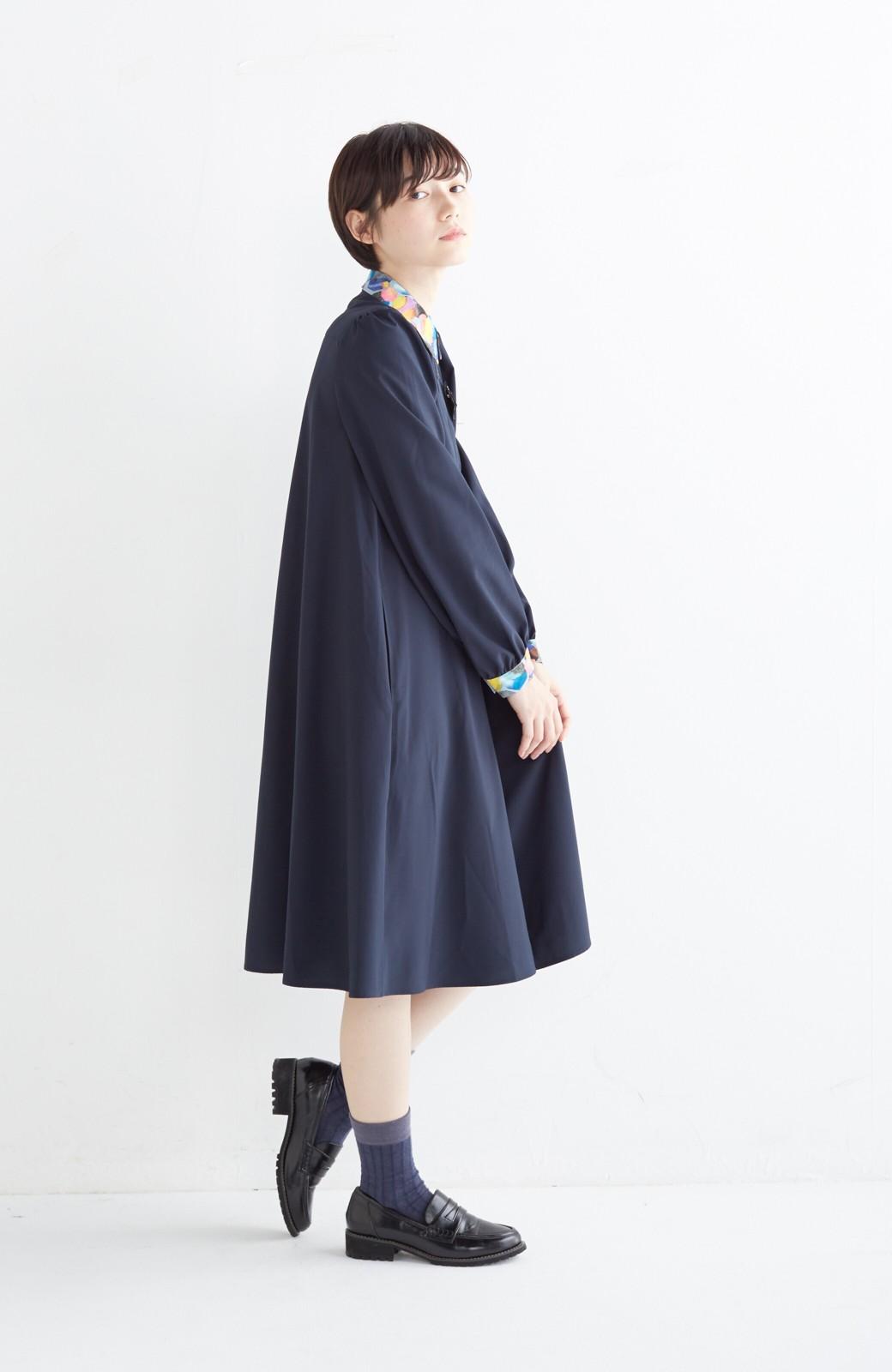 haco! 【再販決定】co&tion×haco. 入谷葉子 おすましワンピースとブローチのセット <ネイビー>の商品写真12