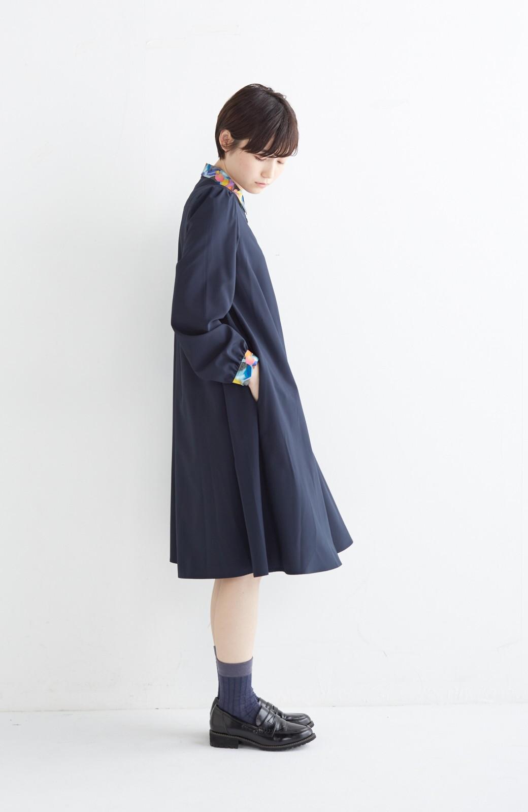 haco! 【再販決定】co&tion×haco. 入谷葉子 おすましワンピースとブローチのセット <ネイビー>の商品写真13