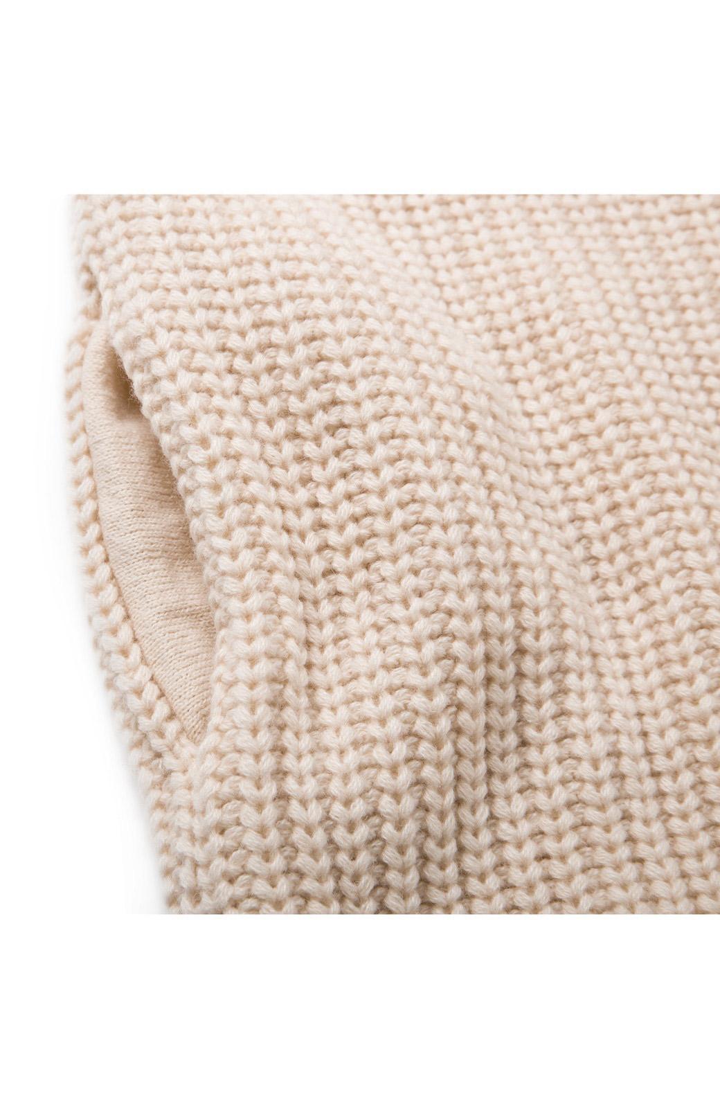 nusy パプコーン編みがかわいい おしゃれニットワンピ <ホワイト>の商品写真5