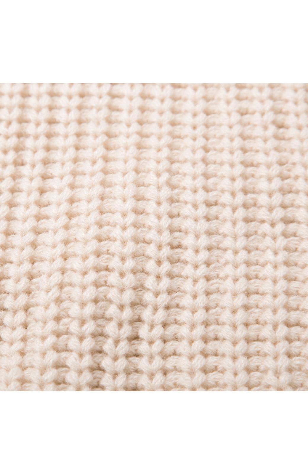 nusy パプコーン編みがかわいい おしゃれニットワンピ <ホワイト>の商品写真3