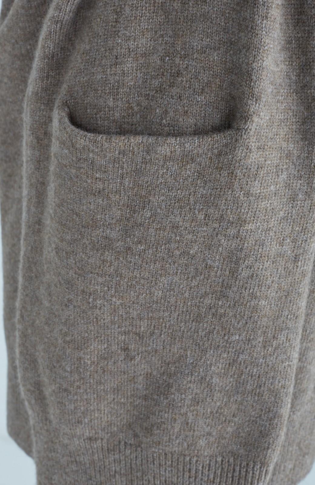 エムトロワ ぱっと羽織るのに便利な軽くてあったかいニットガウンコート <ブラウン>の商品写真16