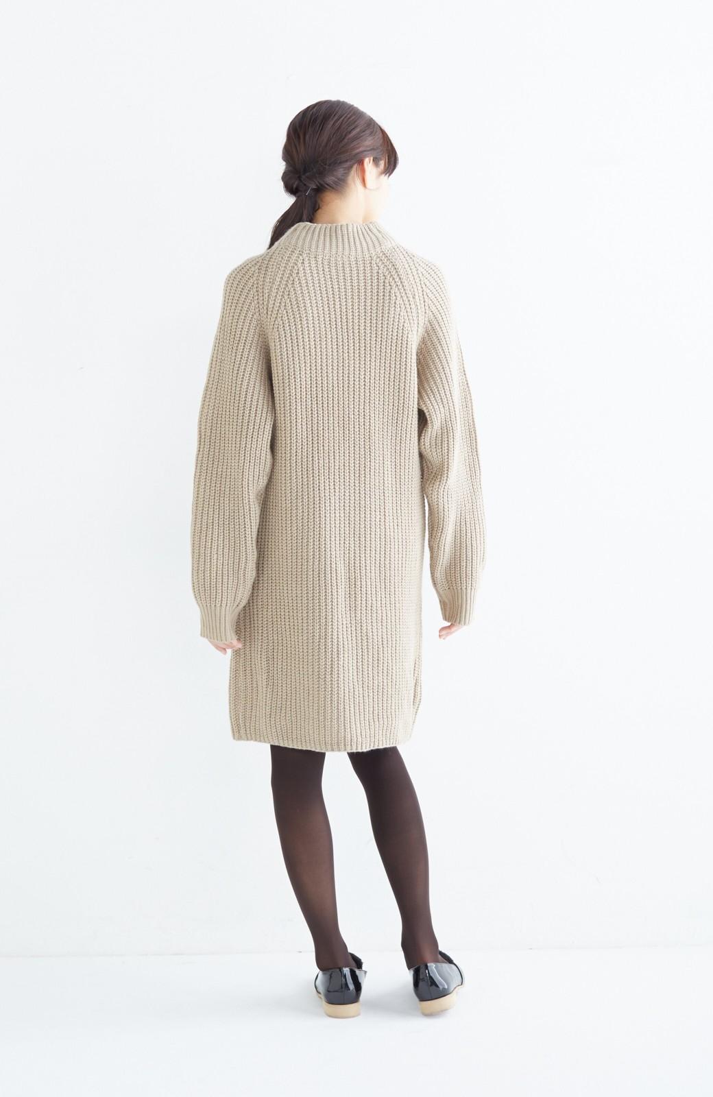 エムトロワ 重ね着もかわいいざっくりニットワンピース <ベージュ>の商品写真8