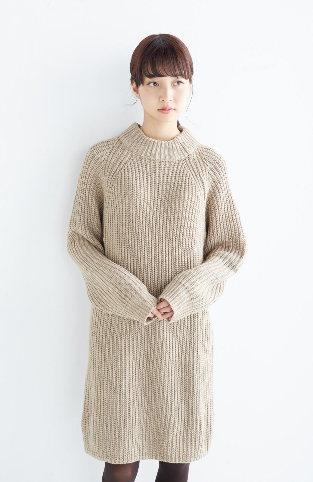 エムトロワ 重ね着もかわいいざっくりニットワンピース <ベージュ>の商品写真16