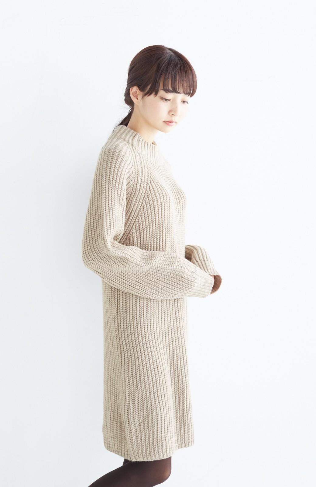 エムトロワ 重ね着もかわいいざっくりニットワンピース <ベージュ>の商品写真17