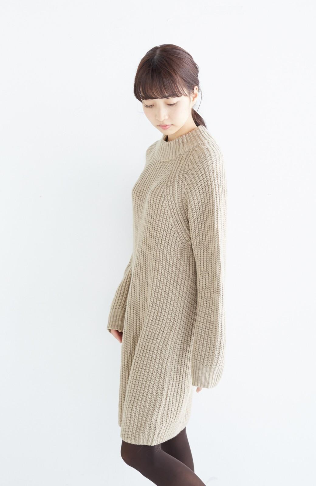 エムトロワ 重ね着もかわいいざっくりニットワンピース <ベージュ>の商品写真18