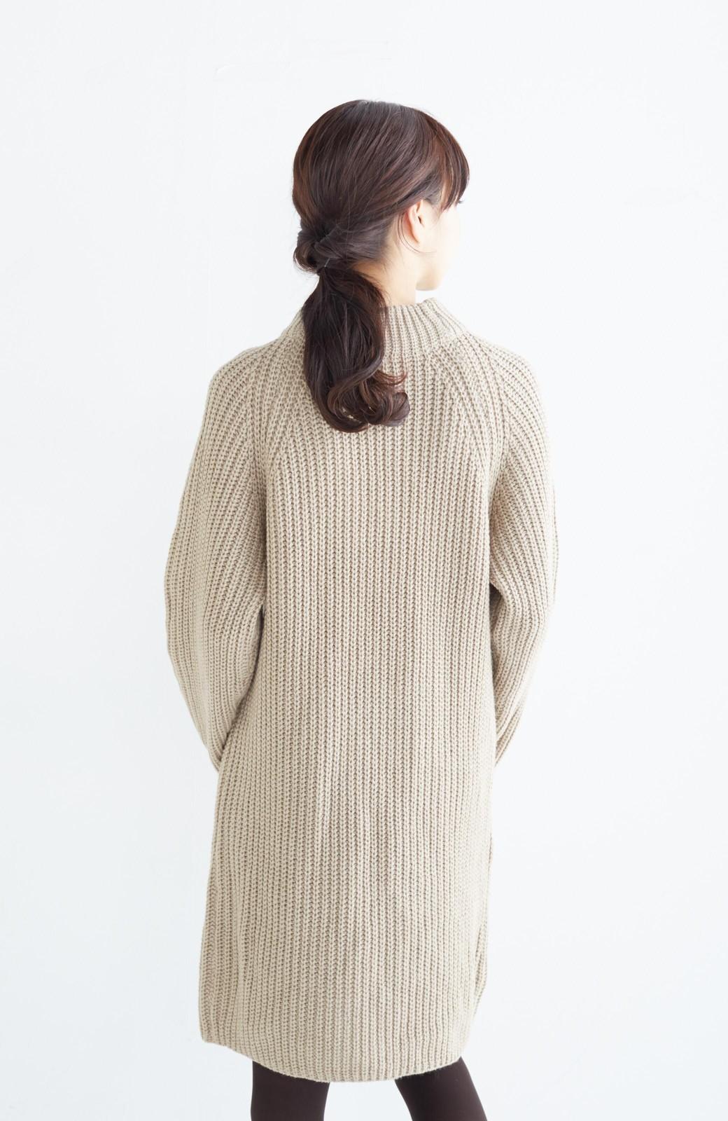 エムトロワ 重ね着もかわいいざっくりニットワンピース <ベージュ>の商品写真19