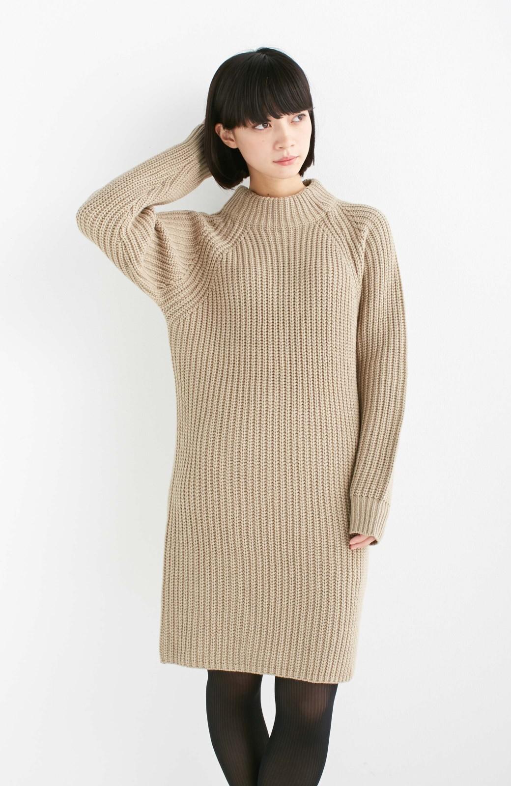 エムトロワ 重ね着もかわいいざっくりニットワンピース <ベージュ>の商品写真9