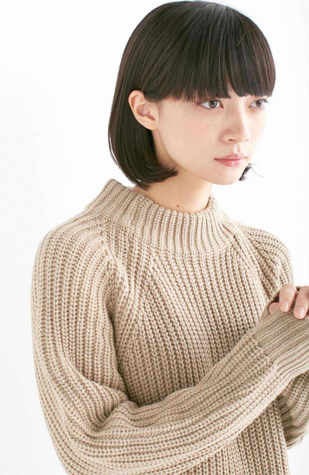 エムトロワ 重ね着もかわいいざっくりニットワンピース <ベージュ>の商品写真12