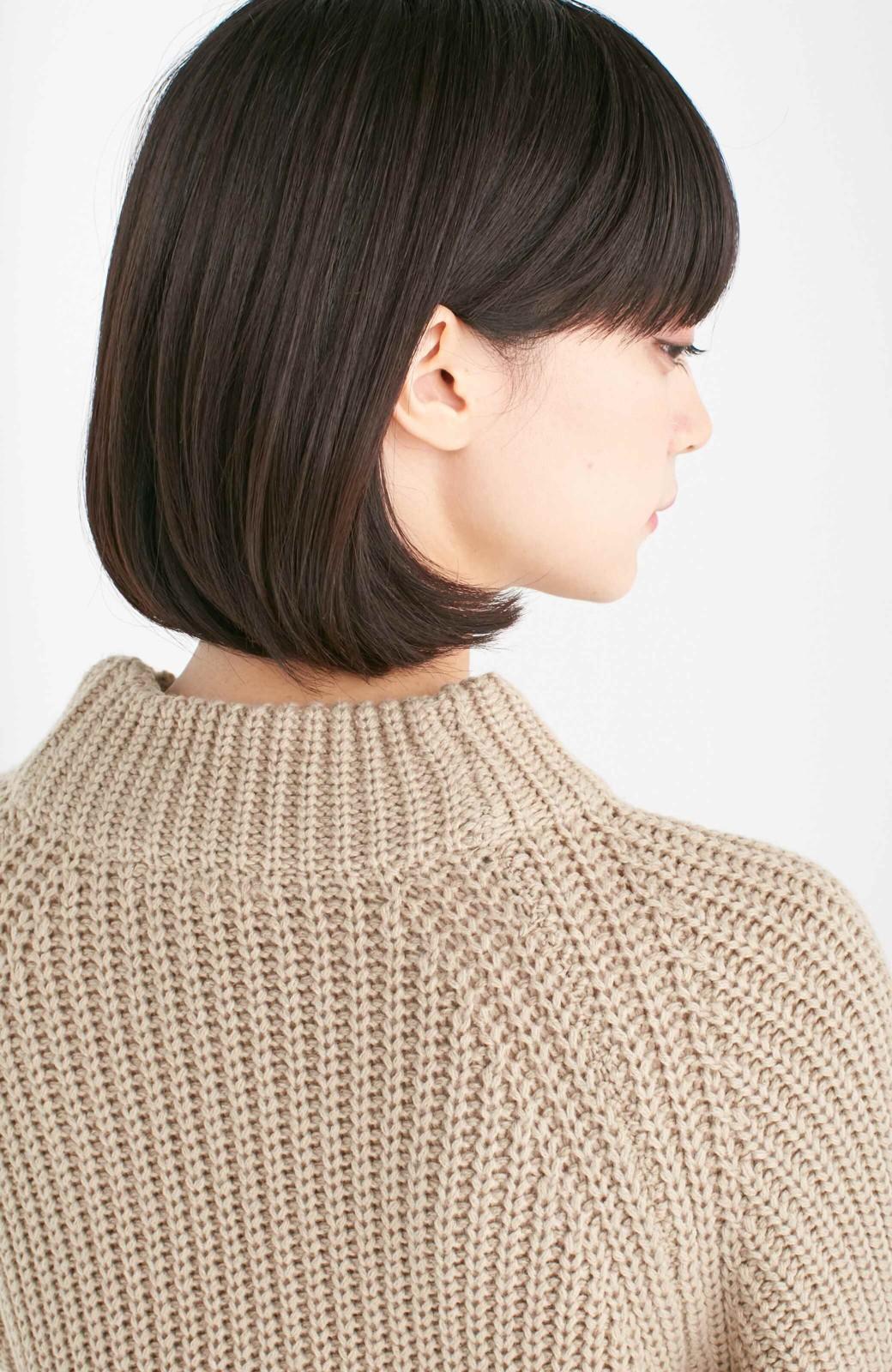エムトロワ 重ね着もかわいいざっくりニットワンピース <ベージュ>の商品写真13