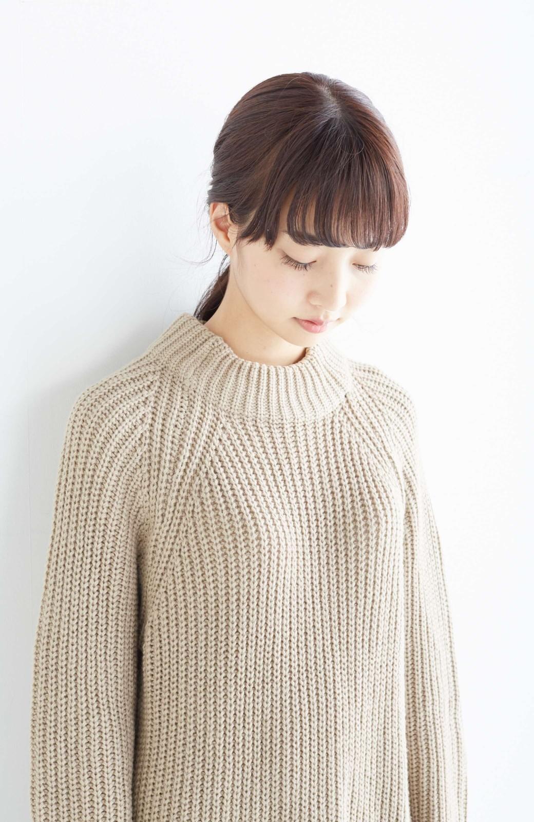 エムトロワ 重ね着もかわいいざっくりニットワンピース <ベージュ>の商品写真14