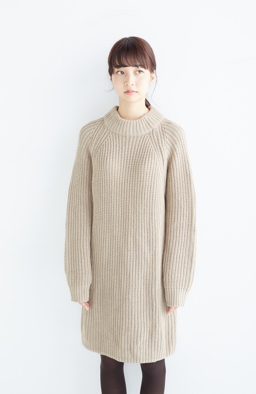 エムトロワ 重ね着もかわいいざっくりニットワンピース <ベージュ>の商品写真15