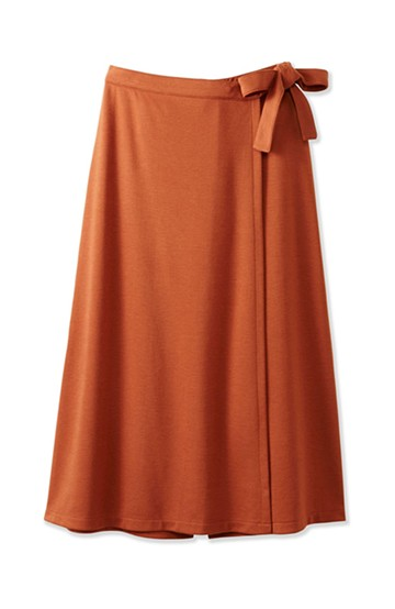 haco! スカート派さんもお気に入り ウエストリボンのスカートパンツ <キャメル>の商品写真