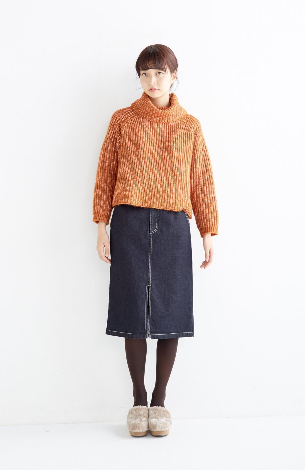 エムトロワ 【mer1月号掲載】大人っぽくはきたいフリンジデニムスカート <インディゴブルー>の商品写真3
