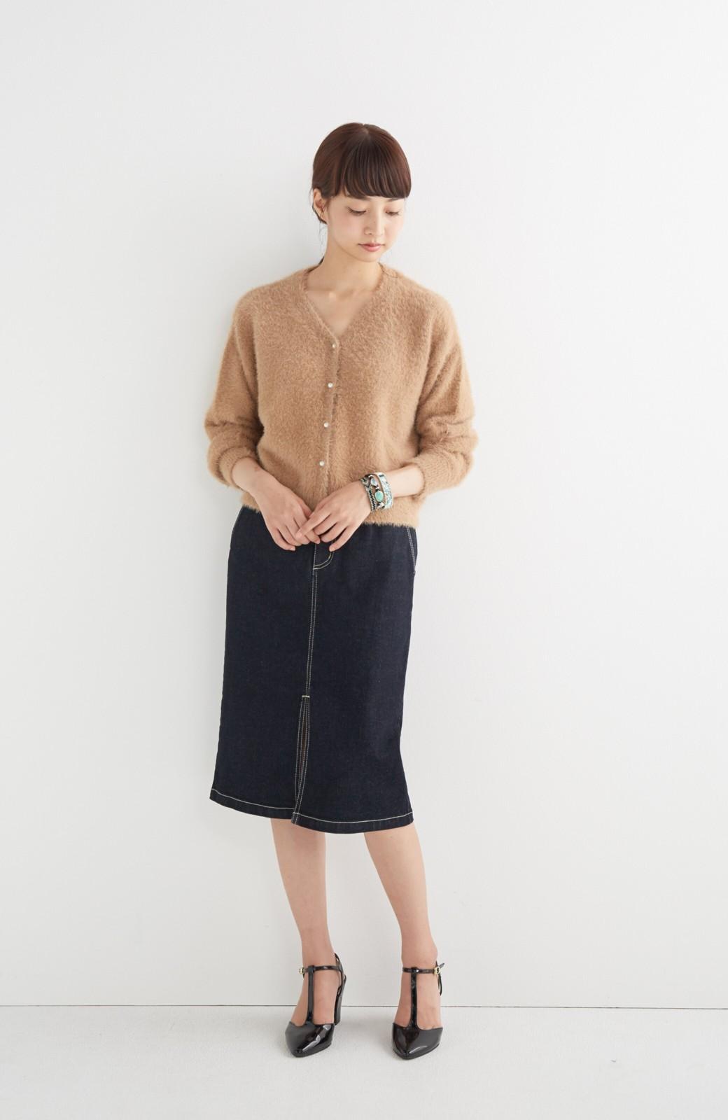 エムトロワ 【mer1月号掲載】大人っぽくはきたいフリンジデニムスカート <インディゴブルー>の商品写真8