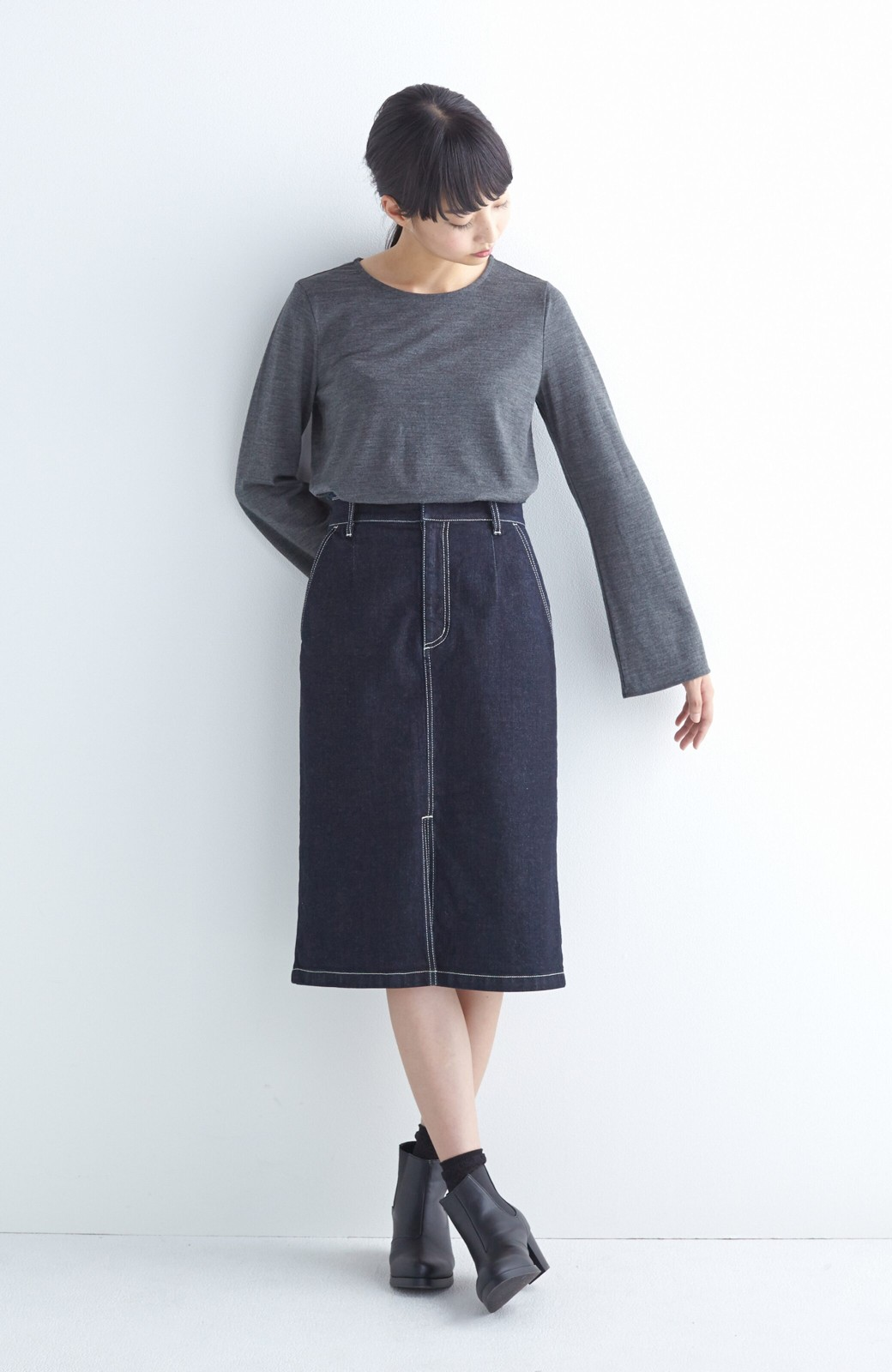 エムトロワ 【mer1月号掲載】大人っぽくはきたいフリンジデニムスカート <インディゴブルー>の商品写真10