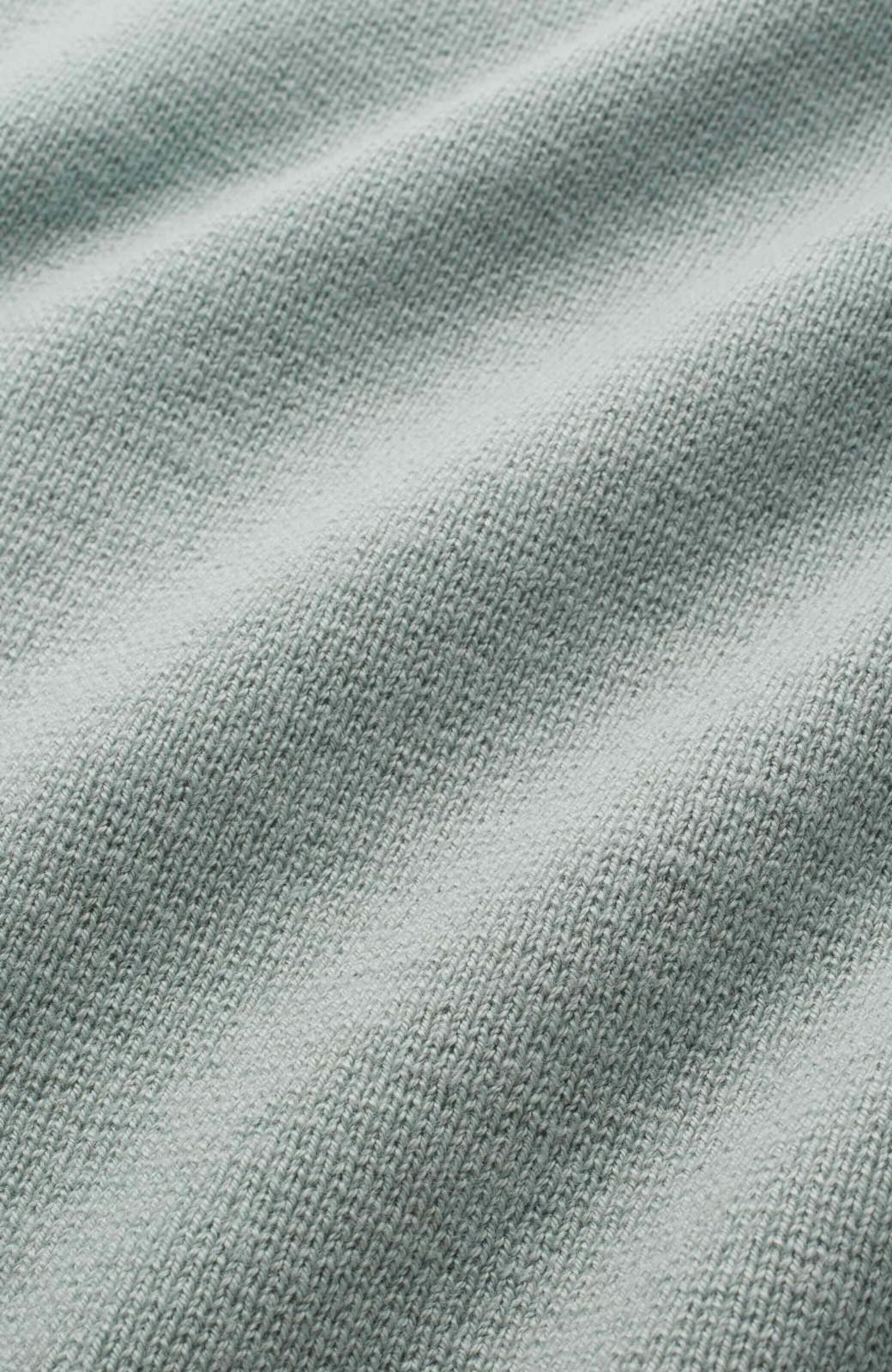 エムトロワ パッと着るだけでいい感じになれる きちんと見えて長い季節使えるミラノリブニット <ミント>の商品写真2