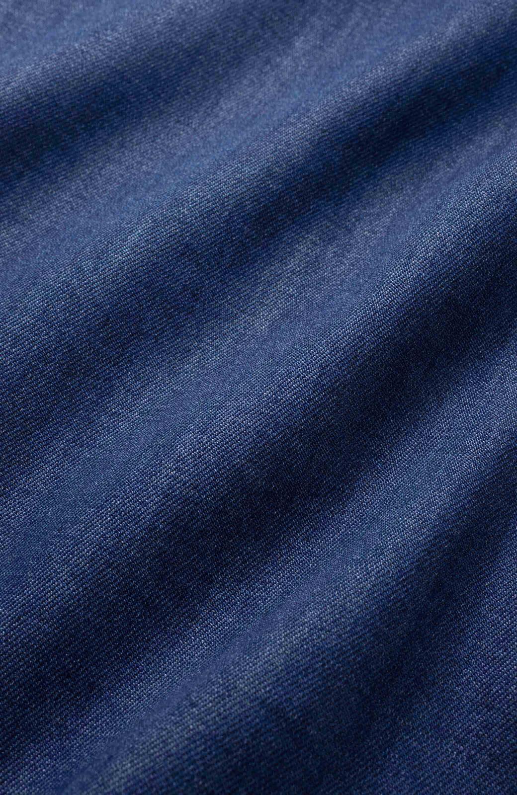 nusy やわらか麻混デニム素材のビッグプリーツジャンパースカート <インディゴブルー>の商品写真2