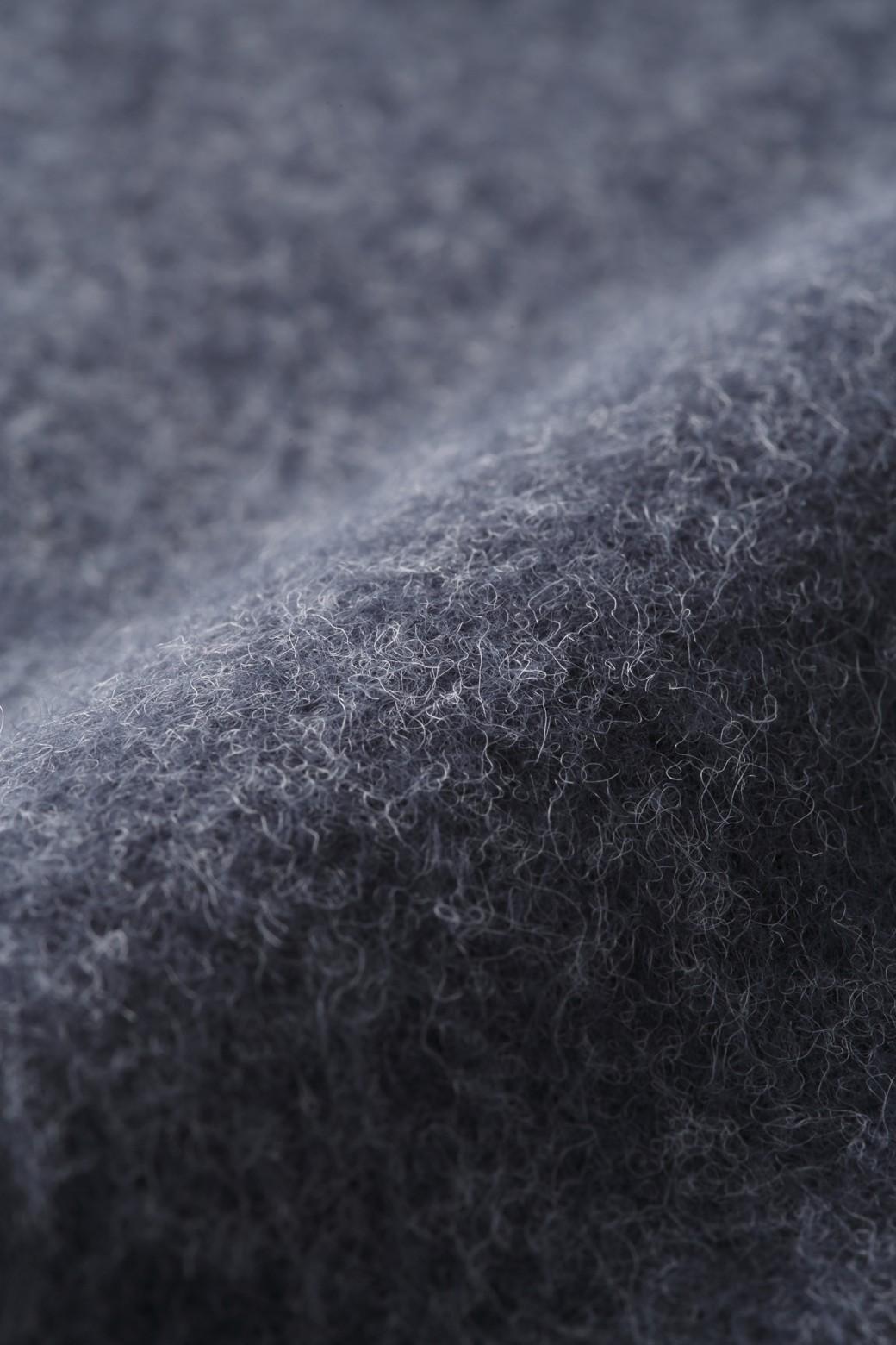 エムトロワ フェルトライク起毛カットソータートルワンピース <ネイビー>の商品写真2
