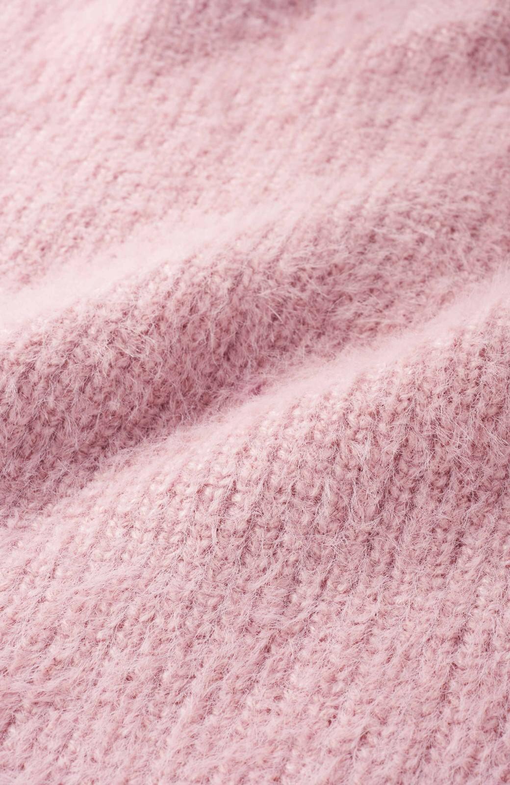 エムトロワ ゆったりシルエットがかえって女らしいダブルVネックシャギーニット <ベビーピンク>の商品写真3