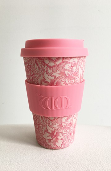haco! ecoffee cup – William Morris 14oz <ピンク系その他;Poppy>の商品写真