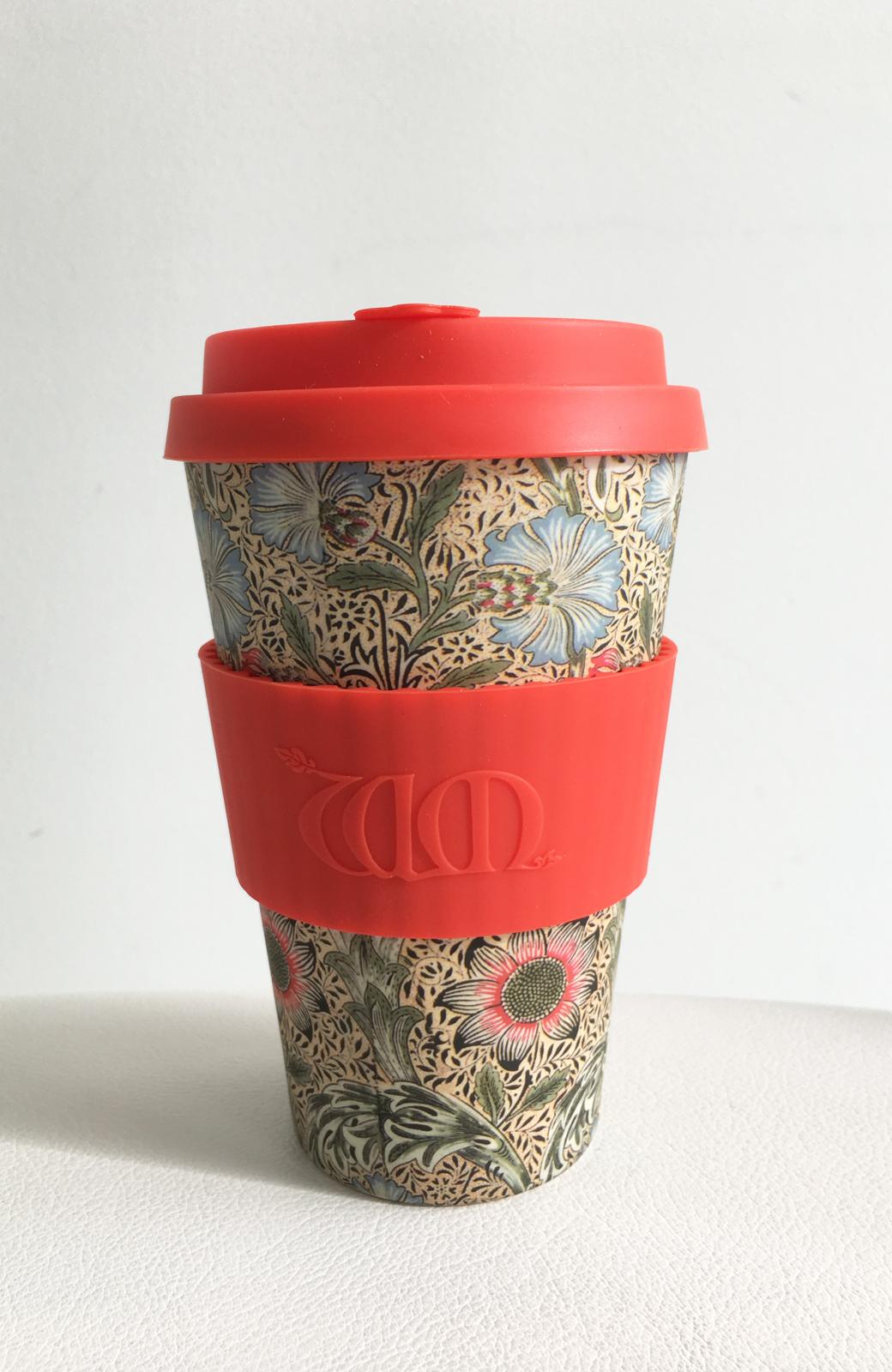 haco! ecoffee cup – William Morris 14oz <レッド系その他;Corncockle>の商品写真1